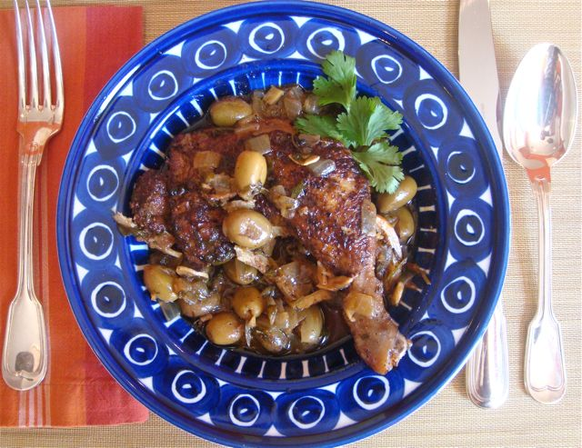 Chicken Tagine with Green Olives and Preserved Lemon | Domestic Daddy ...